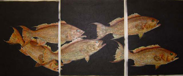 custom gallery of gyotaku fish art by burt lancaster